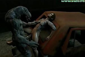 3D Source Filmmaker Monster PORN Animated