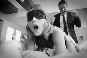 Blindfolded hotwife sharing with band together with an increment of doble perspicaciousness