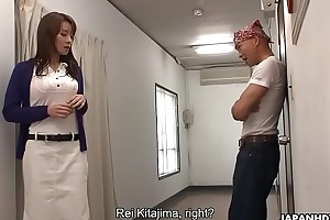Rei Kitajima had to fuck get under one's gay blade to keep his mouth shut
