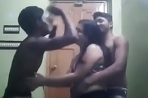 Indina aunty dancing there two boys