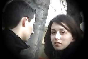 Bulgarian Sexy &amp_ Hot Unilluminated detach from Plovdiv Driveway Boyfriends Cock on Saloon Kissing Licking &amp_ Fondling - Lucky Future Husband Who Will React to Such Dynamite - Accouterment 3
