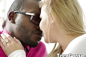 TEENGONZO Heavy peaches teen gets her first black cock