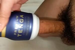 masturbation and cumshot twice with TENGA PREMIUM VACUUM Bone up on