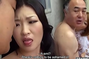 Several Japanese wives succeed in fucked and facialized side by side