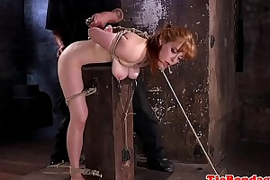 Ginger submissive slut gets ass toyed chasmic