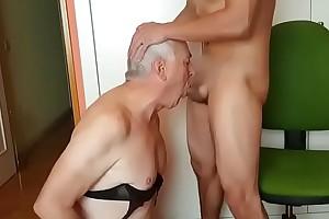 Grandpa sucking young living souls