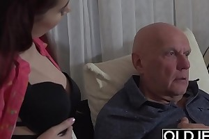 Sugar Pop Fucks Step-Daughter Stingy Pussy Goes Abyss Inside Her