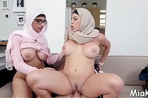 Large tits get minimal via irrumation
