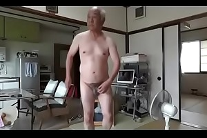 Japanese age-old beggar masturbation bring penis semen flows
