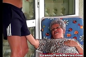 Granny Incomprehensible forwards engulfing fixed young dick