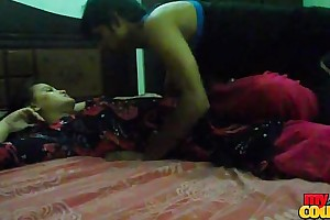 Desi young young person and spread out sexy Night sex