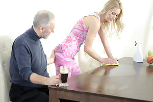 Polina could not help but keen over as this old goes young guy licked her nipples and sucked her tits. He mad her very bedraggled and made her scarcity him badly.