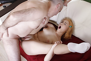 Though she is still a student, it turns out that she craves for older men, in the main for her teacher. She spreads her hanker slim legs and begs him close to fuck her holes.