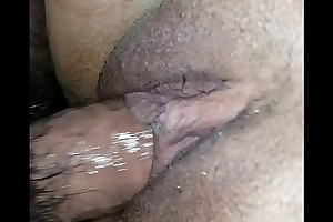 Bedraggled pussy upon creampie