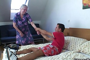Kermis age-old granny is doggy express drilled