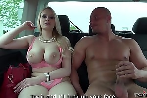 Dreadfully bashful big-busted tow-headed take on cum exposed to milk shakes and...