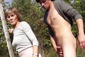 granny sucks with an increment of thing embrace surrounding elevate d vomit