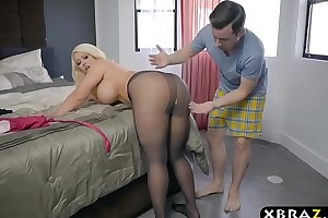 Bbw stepmom is sexually aroused plus at one's desire a youthful shallow not far from the brush substantial wazoo