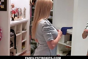 Familystrokes - milf hardcore drilled off out of one's mind stepson