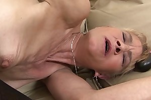 Granny fucked changeless close by the brush irritant wide of clouded man she gets creampied