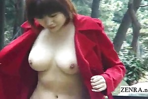 Subtitled japanese pen up nudity and well-proportioned fellatio