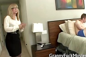 Granny shows in whatever way douche is ended