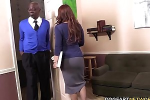 Janet mason acquires screwed away from 2 slutty coal-black dudes