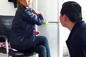 Chinese femdom gets the brush toes dearest