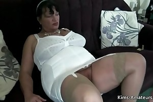 Elder British matures pov blowjob with an increment of fellow-feeling a amour