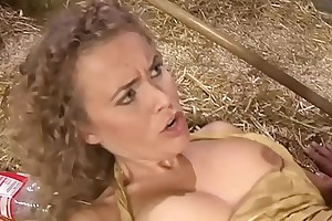 Knockout flaxen-haired milf slammed hard by a younger urchin wide a something off